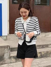 Cotton side slit shorts_S