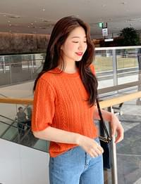 T punching knit (4color)