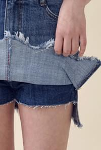 Gren denim skirt pants