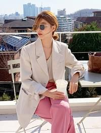 Meet single linen jacket_M (size : free)