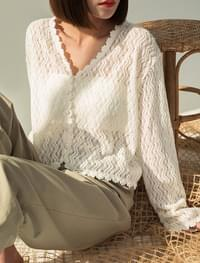 graceful lace cardigan