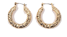 matching gold earring