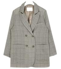well check linen double jacket