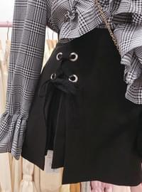 Order rumble ♥ Eyelet ribbon skirt pants