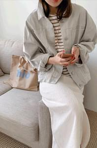 Planning Specials / Mist Gray Cotton Jacket