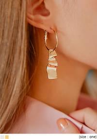 EDEN WAVE RING DROP EARRING