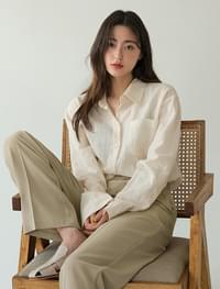 linen pastel pocket shirts
