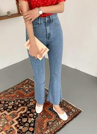 Side Flared denim pants