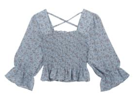 Soul Flower Square Neck Blouse
