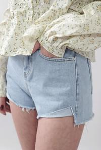 Damage Denim Shorts