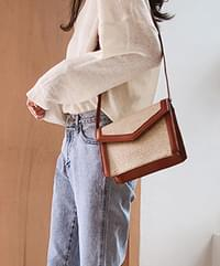 Pivot Rattan Square Bag