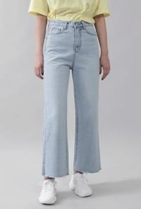 High waist wide cut pants