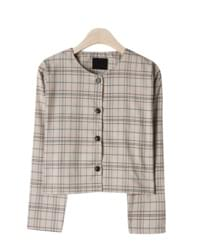 Peter round check jacket