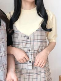 Peter Twin Check Bustier