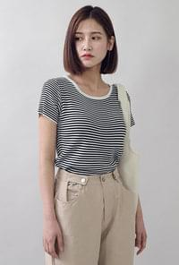 Colored Round Striped T-shirt