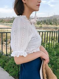 Punching Lemon Crop Blouse