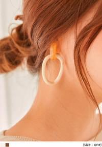 HALL MARBLING RING DROP EARRING