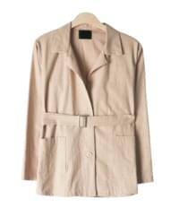 Honey Linen Belt set jacket