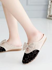 Ballpoint Lace Slippers 1.5cm