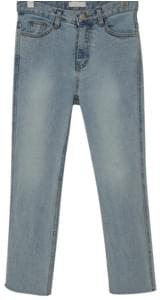 Light cutting denim pants_S