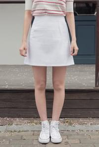 A-line back banding cotton skirt