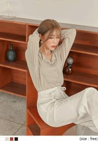 MARONG LOOSE FIT LINEN CARDIGAN