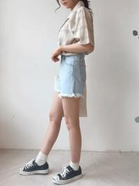 Vacation ice denim shorts