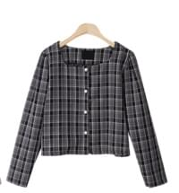 Moist check blouse