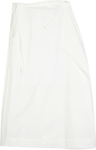 point unbalance wrap cotton skirt