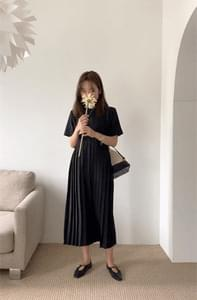 Charle pleated long dress