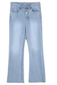 semi boots-cut denim pants - woman