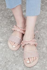 Rdm frilly check sandals