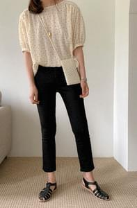 Slim Fit Summer Date Cropped Pants
