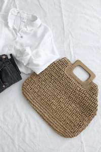 Free Tote Bag-Beige Same Day Shipping