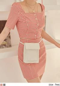 SOIN CHECK SET-UP CROP 1/2 BLOUSE