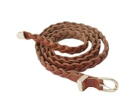 hard weave leather belt
