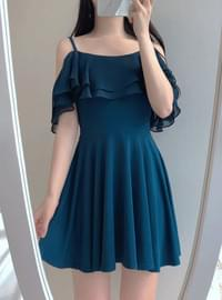 Off-Shoulder Chiffon Mini Ops