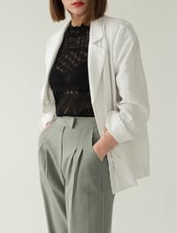 simple mood linen jacket