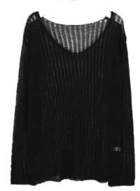 away summer v neck knit
