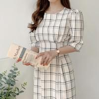 Elegant mood check dress