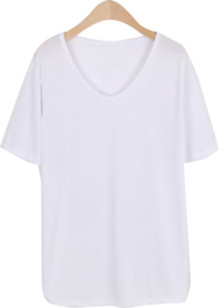 Modal type neck short sleeve tee
