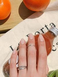 Silver Musel Layering Ring