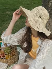 wide visor floppy hat