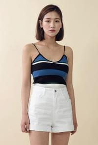 Stripe V Neck Sleeveless