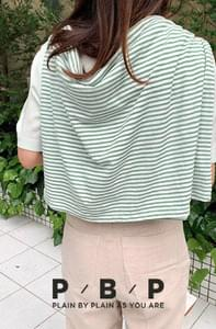 PBP. 9 pieces of linen striped tee
