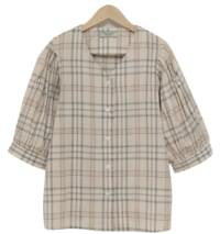 General check puff blouse_S