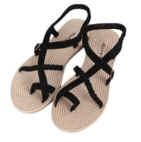 Strap cooked sandals