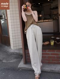 1/2 day pants # 124 high waist maxi long linen pants