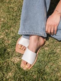 basic square toe slipper