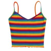 Rainbow Stripe Sleeveless T-shirt